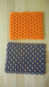 3D tištěné struktury imitující textilní materiály