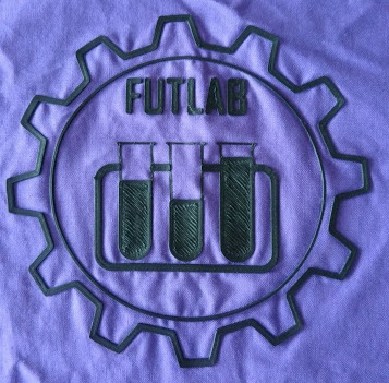 futlab logo, tisk na textil