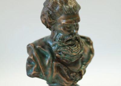 Bronz socha zelená patina