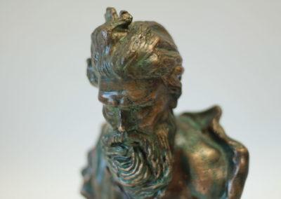 Odlévání bronzu - busta