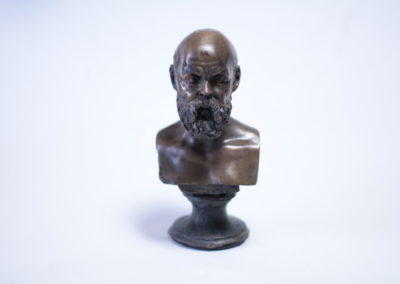 Bronz busta Socrates
