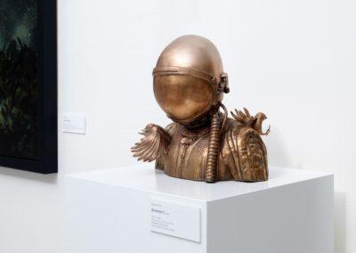 Bronzová busta - Pilot