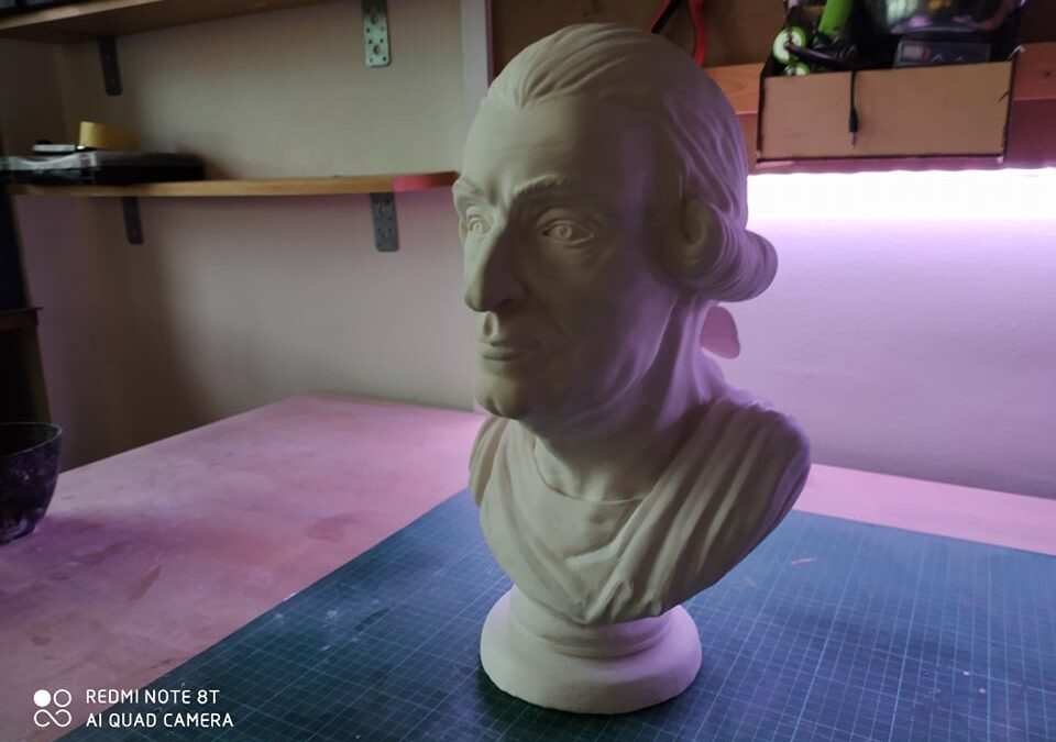 Production of a plaster bust: Count Albert von Hoditz