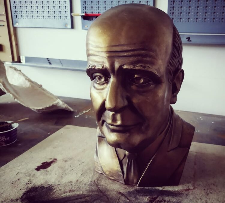 Production of plaster bust: Jan Masaryk