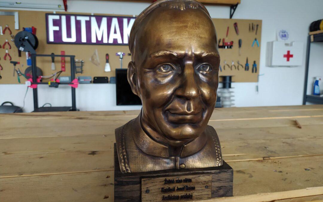 Výroba bronzové busty na zakázku pro církev – Kardinál Josef Beran