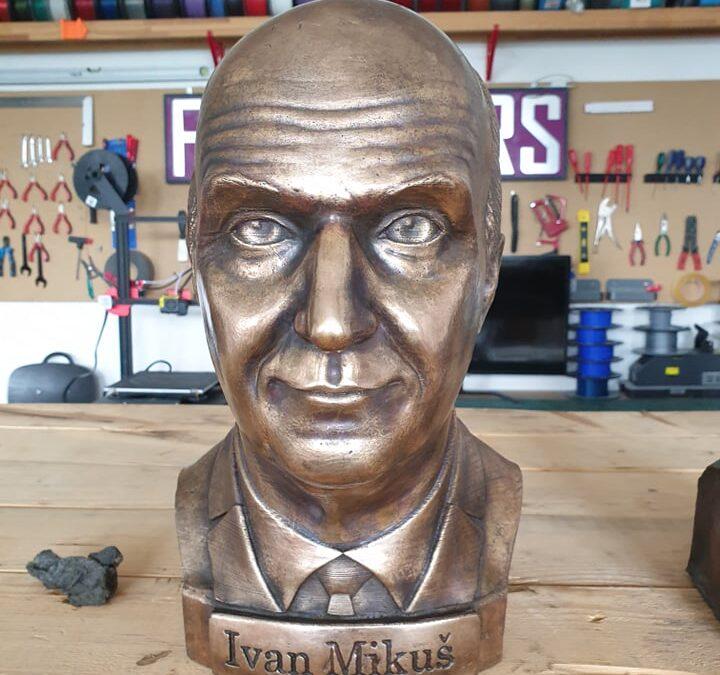 Výroba bronzové busty – dárek k narozeninám