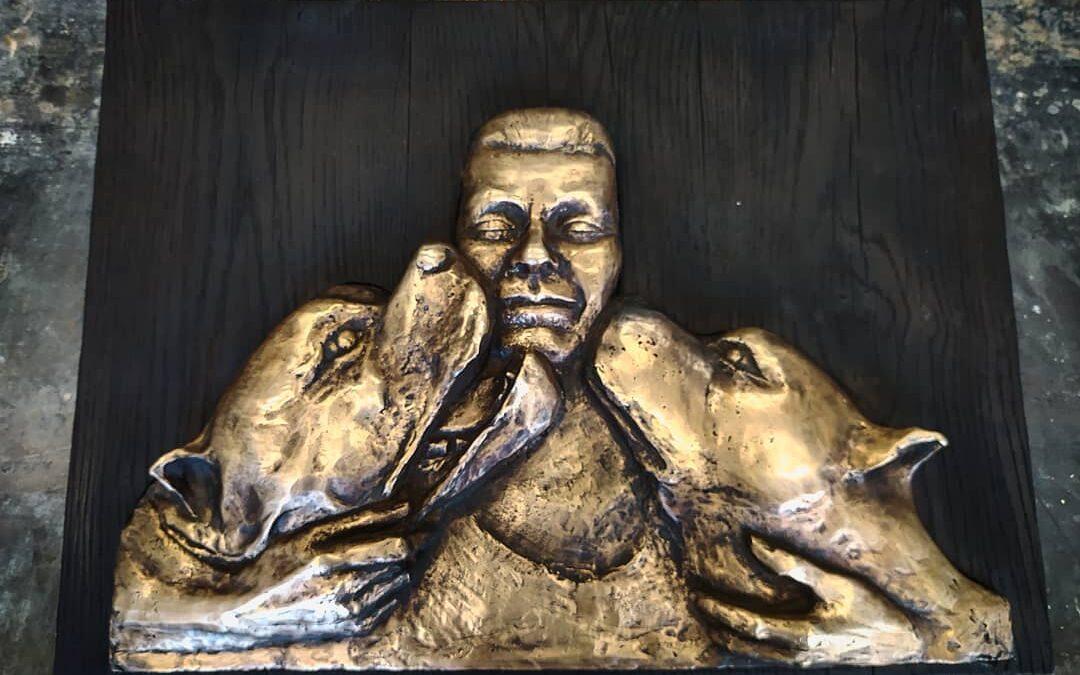 Bronzový reliéf